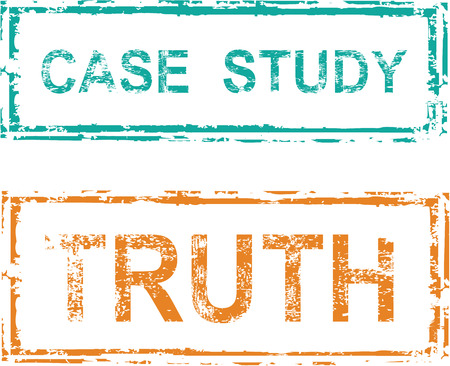 truthful: Case study Truch vector stamp grunge clip-art Illustration