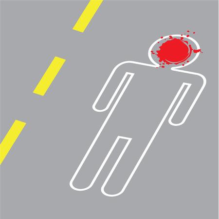 Crime scene blood vector illustration clip-art Illustration