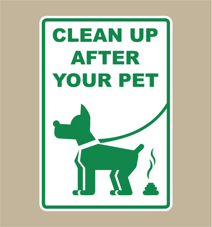 Clean up after your pet sign vector illustration clip-art image