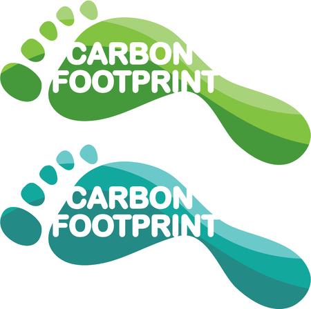 carbon footprint: Carbon footprint vector illustration clip-art image