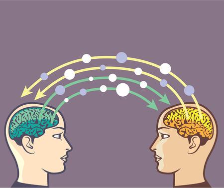 Information Exchange Vector brain power image