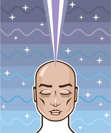 astral: Astral Projection connection vector illustration clip-art image Illustration