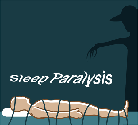 Sleep paralysis vector dark shadow illustration clip-art image