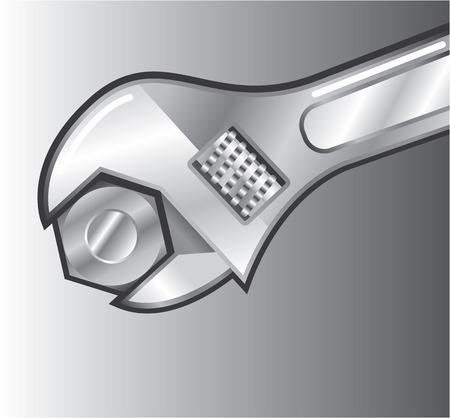 Tighten the bolt vector illustration clip-art image Illustration