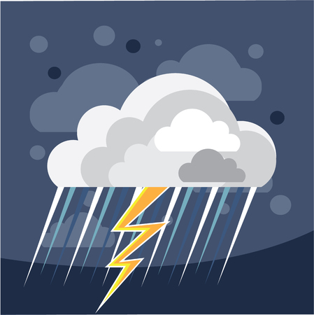 Severe storm weather Icon vector illustration clip-art Stock Vector - 69650850