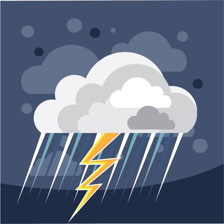 Severe storm weather Icon vector illustration clip-art