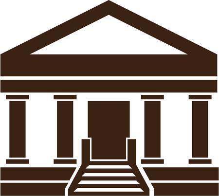 Bank Museum vector illustration clip-art image 向量圖像