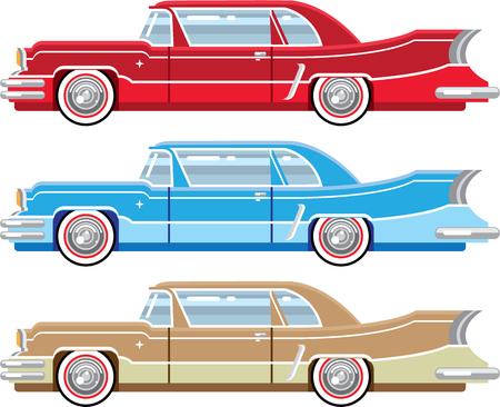 Vintage classic car vector illustration clip-art image Ilustração