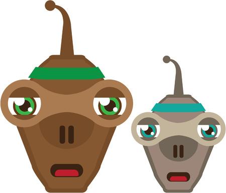 Aliens clip-art design vector illustration image