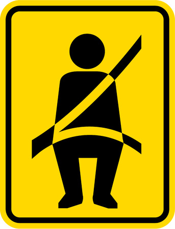 Seat Belt Law sign vector illustration clip-art sign Vectores