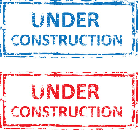 Under Construction vector stamp illustration clip-art image