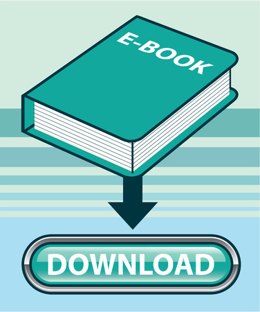 Ebook download button vector illustration clip-art image Illusztráció