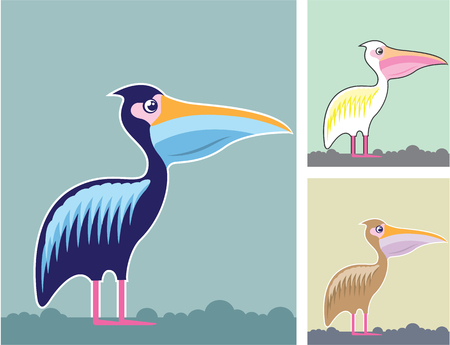 Pelican Colors Background illustration clip-art Illustration