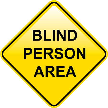 visually: Blind person area vector illustration clip-art image Illustration