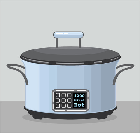 Crock pot vector illustration clip-art image
