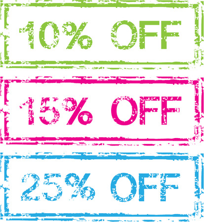 frame less: Sale Percent Off Stamp vector illustration clip-art image