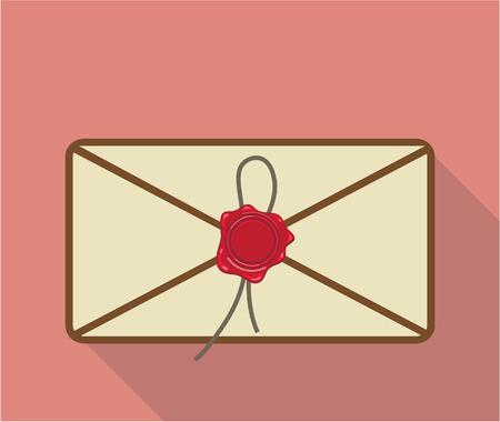 waxseal: Sealed envelope vector sealed illustration clip-art image Illustration