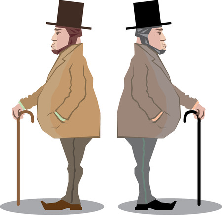 Old fashioned sir gentleman vector illustration clip-art