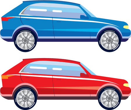 Stylized modern car vector illustration clip-art image