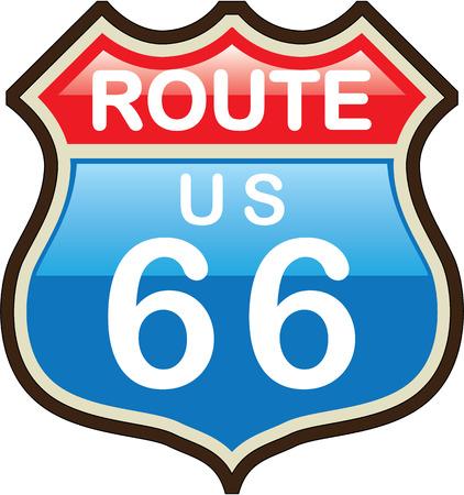 Route 66 vector illustration clip-art image Ilustração