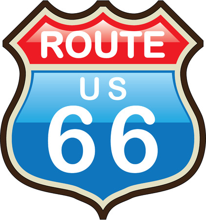 Route 66 vector illustration clip-art image Illustration