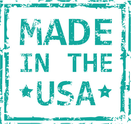manufactured: Made in the USA vector stamp clip-art
