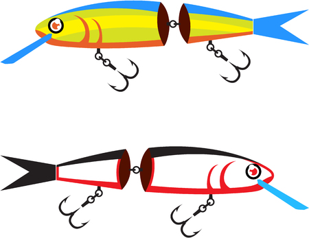 Fishing lure crank bait illustration clip-art image