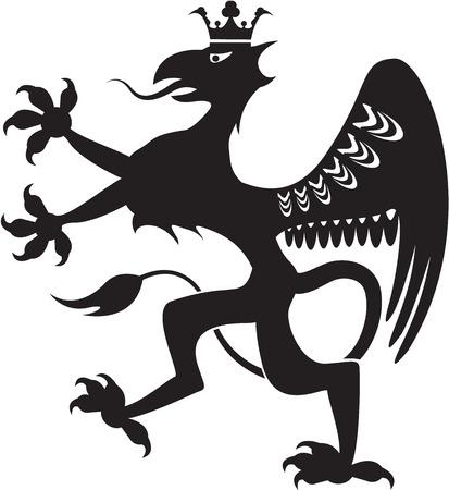 Royal beast black illustration clip-art image symbol Illustration