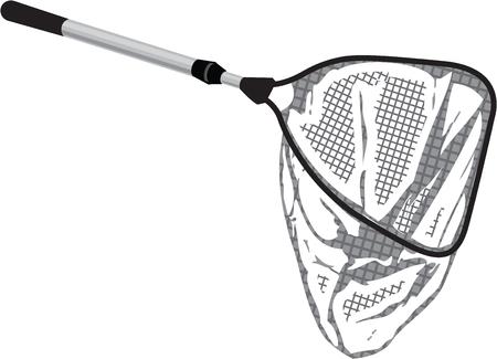Landing fishing net vector illustration clip-art image Illustration