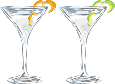 Martini drink vector sketch illustration clip-art 版權商用圖片 - 69819580