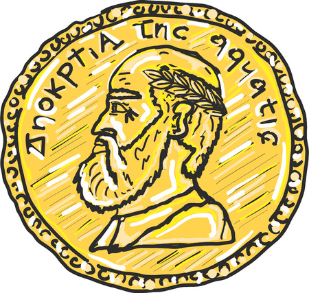 Ancient gold coin vector illustration clip-art image