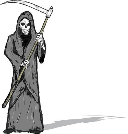 Grim Reaper vector illustration clip-art imagen