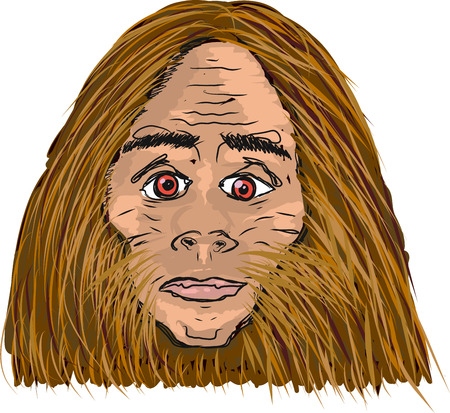 Big foot vector sketch illustration clip-art image
