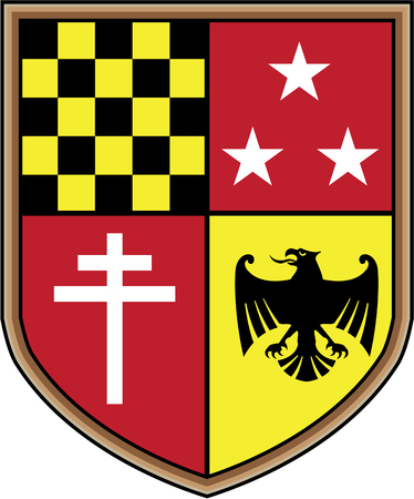 Coat of Arms Eagle Cross Stars Vector