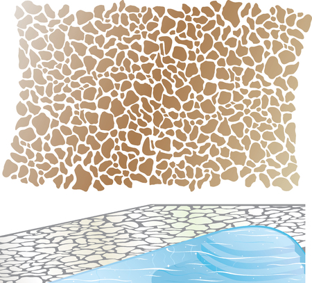 Stenen patroon element bestand zwembad Stockfoto