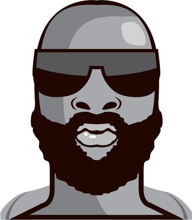 VIP dude illustration clip-art image