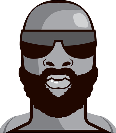 VIP dude illustration clip-art image Stock Illustration - 88298424