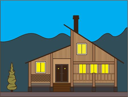 New style house illustration clip-art image
