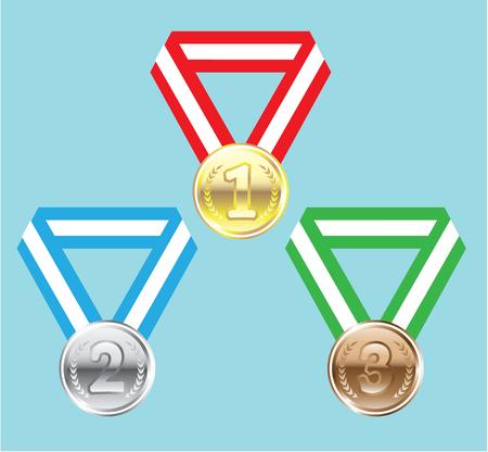 Belohnung Medaillen Abbildung ClipArt-Bild Standard-Bild - 88298211