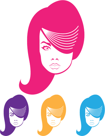 Model hair fashion illustration clip-art Stock Photo