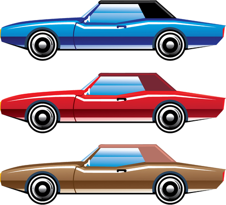Classic style old vehicle clip-art illustration image