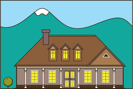 House estate  illustration clip-art image artwork
