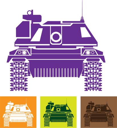 Tank Modern vector illustration clip-art image Stock Photo