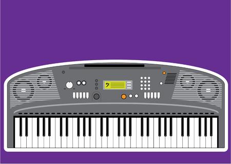 Music keyboard electric piano illustration