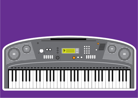 Music keyboard electric piano illustration