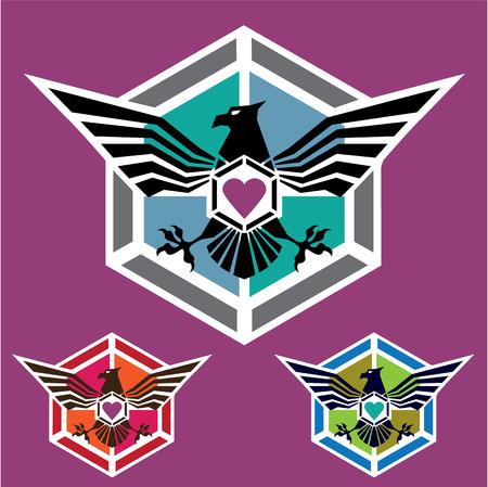 Eagle polygon Logo illustration clip-art
