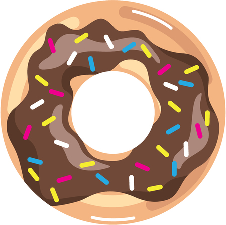 Chocolate Glazed Donut illustration clip-art