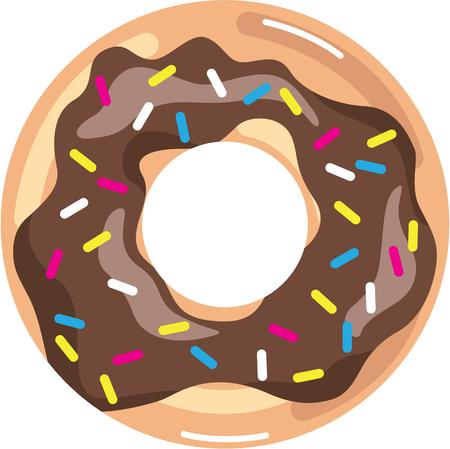 Chocolate Glazed Donut illustration clip-art
