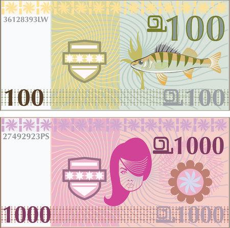 Fake money illustration clip-art image Banque d'images