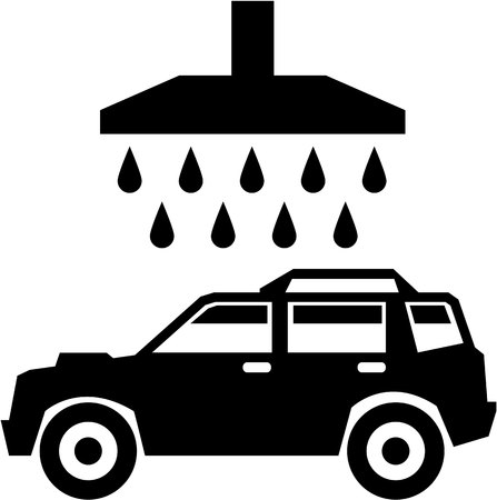 Car was black and white simple illustration
